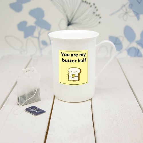 """You Are My Butter Half"" Bone China Mug"